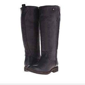 Frye Women's Mara Button Shearling Boots 7.5 Black